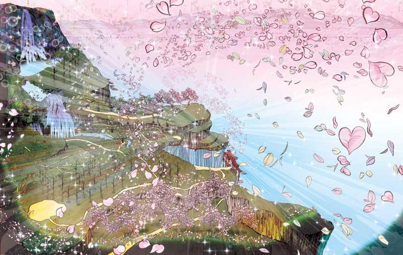 Art of Okami - Gallery - Characters - Cherry BlossomOkami Scenery